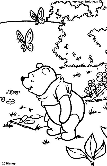Kleurplaten Disney Winnie The Pooh.Winnie The Pooh